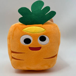 Expressions Square Carrot Plush Stuffed Pillow NEW